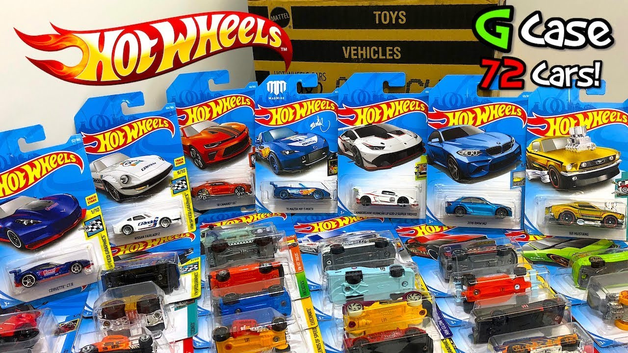 unboxing hot wheels 2018 g case 72 car assortment youtube. Black Bedroom Furniture Sets. Home Design Ideas