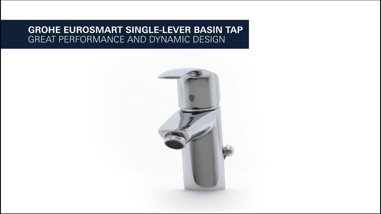 GROHE Eurosmart basin tap – water- and energy-saving - YouTube