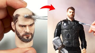 [띠부] Sculpting Avengers 'Thor' _ DIY Polymer Clay Tutorial / 폴리머 클레이로 어벤져스 '토르' 만들기 (ENG SUB)