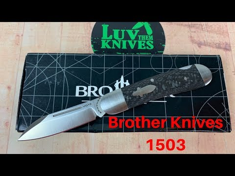 Brother 1503 VG10 Carbon Fiber Lock Back Knife   Great F&F At A Bargain Price !