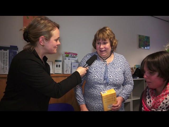 TV Beitrag Gaudio Braille mit der blinden Bettina Link