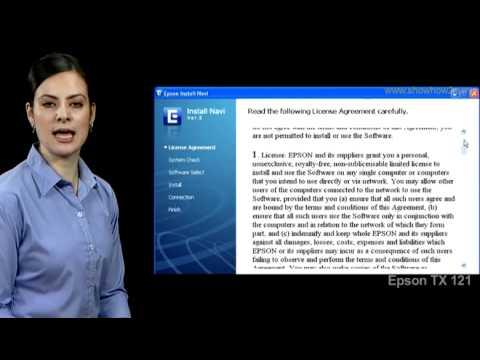 Epson Printer TX121 - How to Install Printer on Windows  XP Driver