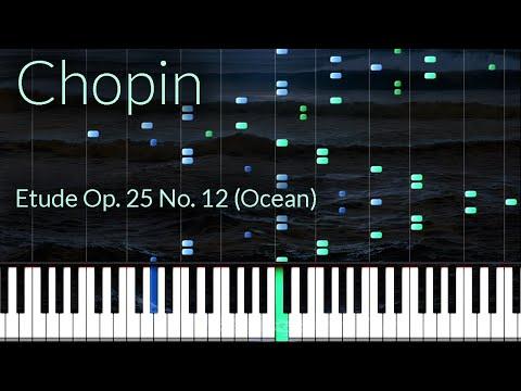 Etude Opus 25 No. 12 (Ocean) - Frederic Chopin [Piano Tutorial] (Synthesia)
