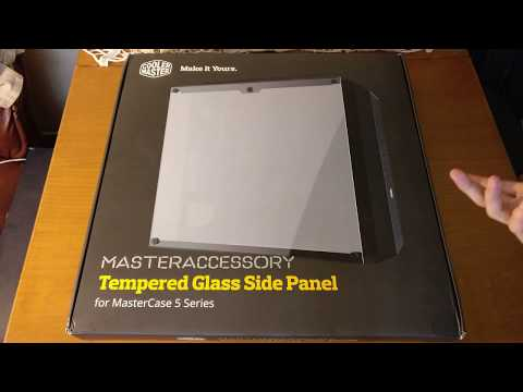 Cooler Master Mastercase 5 6 H500P Tempered Glass Side Panel Unboxing