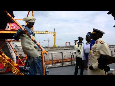 NIGERIA TAKE DELIVERY OF NAVAL VESSEL FROM CHINA