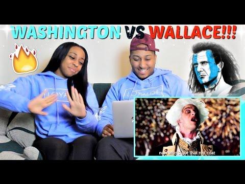 "Epic Rap Battles of History ""George Washington vs William Wallace"" REACTION!!!"