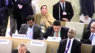 Intervention by Junaid Qureshi (Director EFSAS) during 37th Session of UNHRC on 14th March 2018.