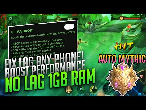 HOW TO FIX LAG 1GB RAM IN MOBILE LEGENDS 2020 - REMOVE LAG ANY PHONE - 100% WORKING