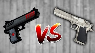 Pixel Gun 3D vs Real Life