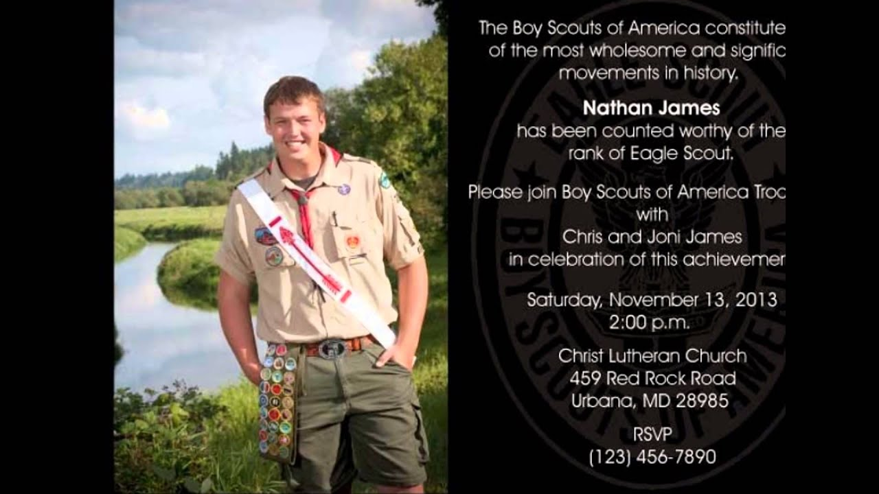 Eagle Scout Invitations Template Free Youtube
