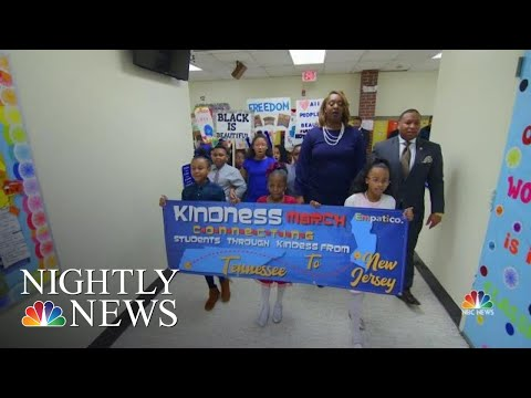 Two Schools Work Together To Build Racial Understanding On MLK Day | NBC Nightly News