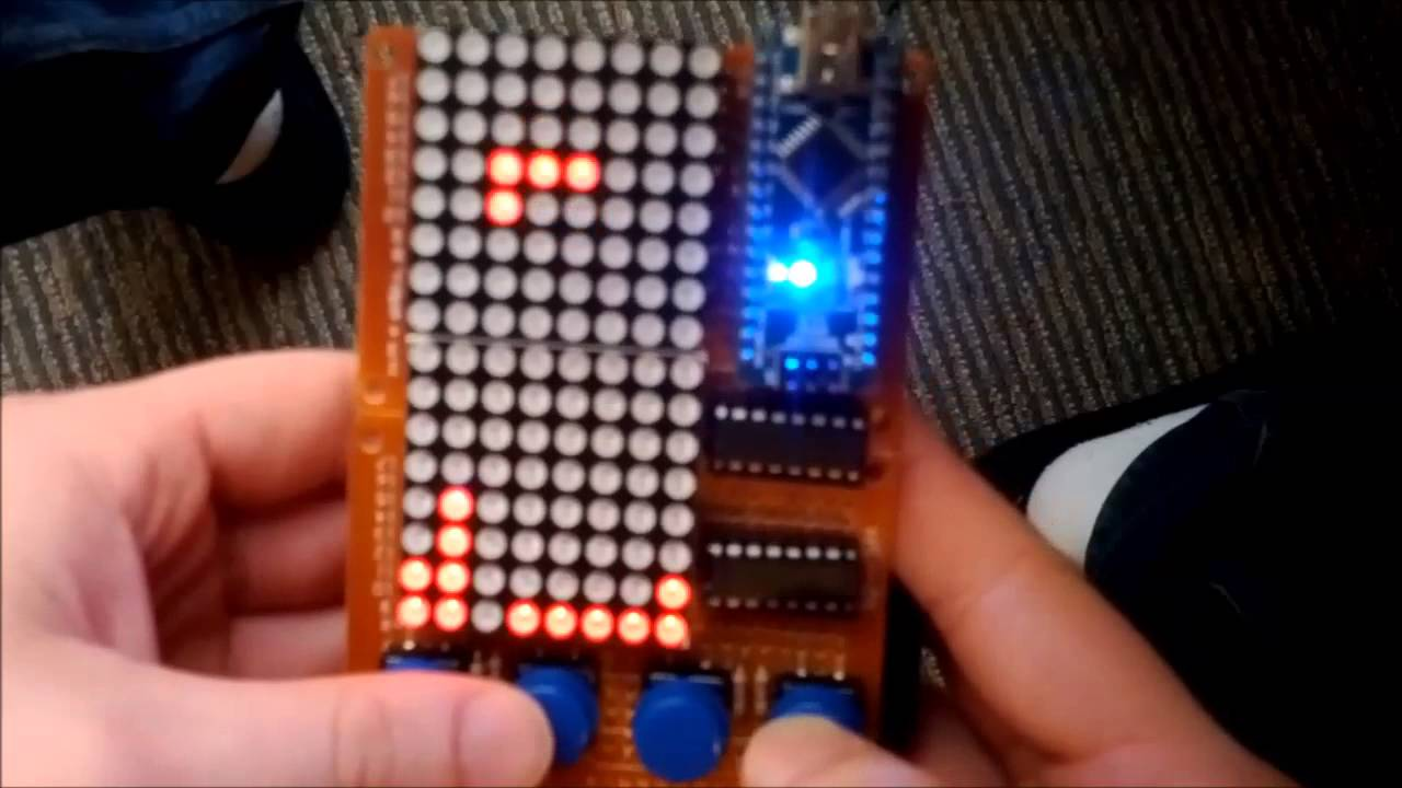 Arduino Project Tetris Using 2 Led Matrix Youtube Schematic For The Ledmatrix Showing 4x5