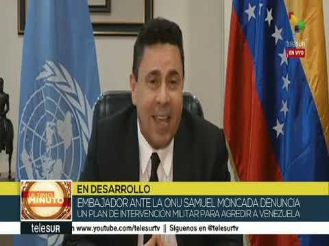 Samuel Moncada entrevistado en Telesur: Propone conferencia internacional contra agresiones de EEUU