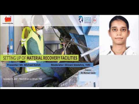 Webinar on: 'Setting up Materials Recovery Facility (MRFs)'
