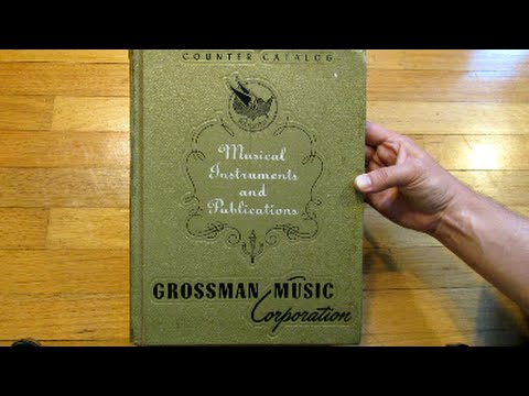 1968 Grossman Music Catalog - 700pg. Complete Flip-Thru! (Supro, Harmony, Kay, Martin...)