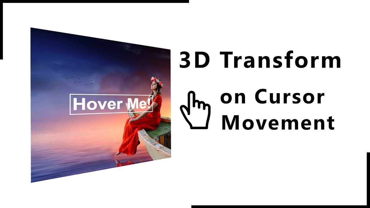 How To Add 3d Effect On Website | Image Hover Effect On HTML Website