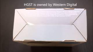 HGST Travelstar 1TB Hard Drive Unboxing + Speed Test