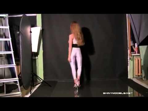 Katya in white spandex