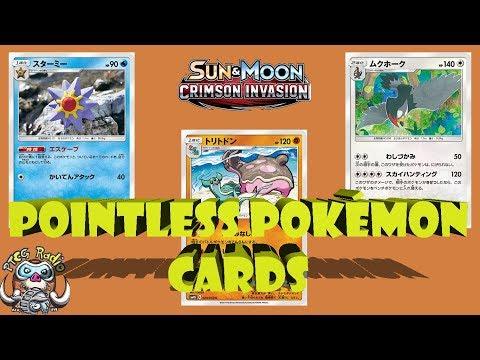 Pointless Pokémon Cards from Crimson Invasion (New Set!)