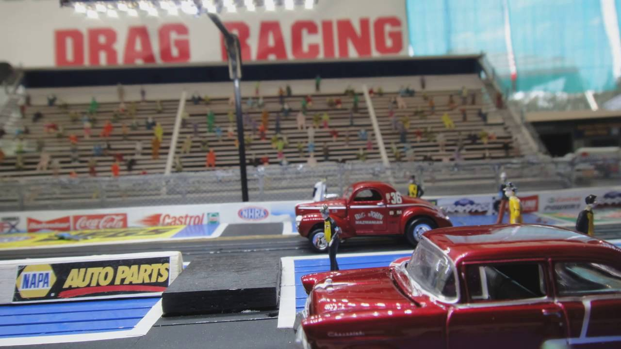Ho Slot Car Drag Racing Sets