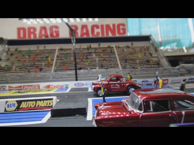 Slot Car Drag Racing 1/62 scale the Worlds Best track !