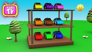 Learn colors with car and Magic color - 3D Cartoons for children Video for kids