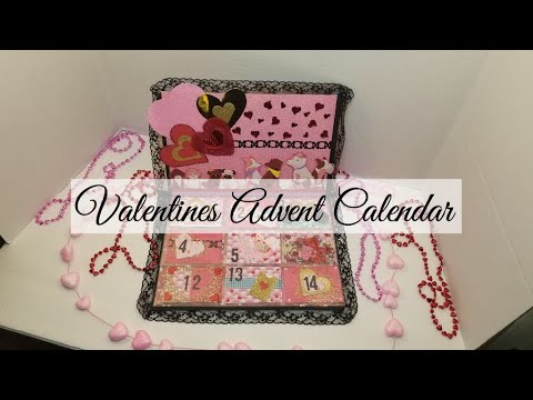 Easy DIY Advent Calendar  - Valentine's day Calendar - Paper to Masterpiece