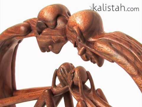 Summer Lover Wooden Sculpture by Kalistah.com