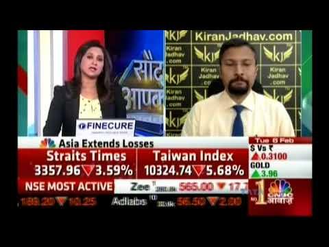 Kiran Jadhav, Technical Analyst, KiranJadhav.com on CNBC Awaaz 06th Feb 2018