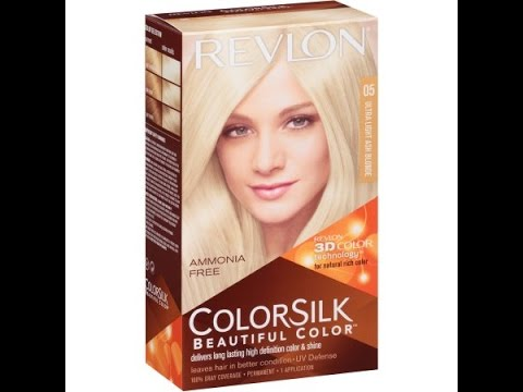 Tinte Revlon Colorsilk 05 Ultra Light Ash Blonde - YouTube