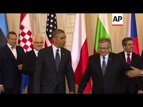 Obama photo-op with central and eastern European leaders
