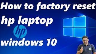 Hindi || How to factory reset hp laptop windows 10