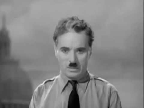Charlie Chaplin Greatest Speech The Great Dictator World Peace