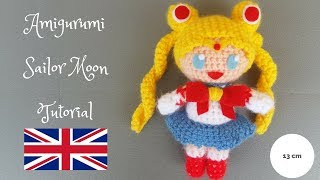 Sailor Moon Amigurumi Pattern free English tutorial! 13cm