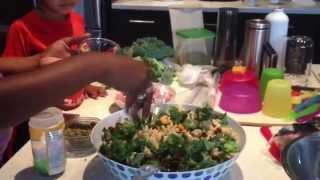 Dinnerin15 - Smoked Ham, Kale And Broccoli Pasta Salad