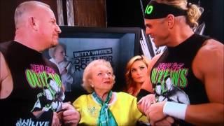 Betty White hosts Monday Night Raw! - 3/10/14