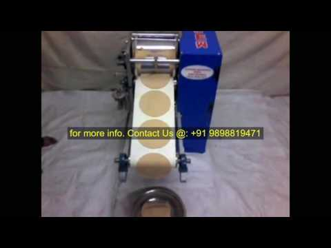 Semi Automatic Roti/ Chapati making Machine