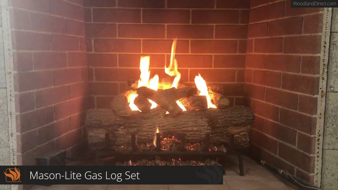 Mason Lite Gas Log Set Burner You