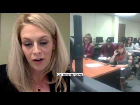 Skyping with Appalachian State University
