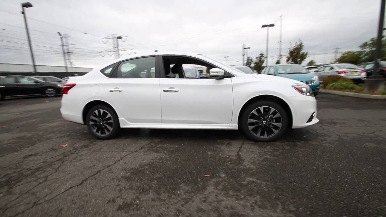 2016 nissan sentra sr aspen white gy328072 kent tacoma youtube. Black Bedroom Furniture Sets. Home Design Ideas