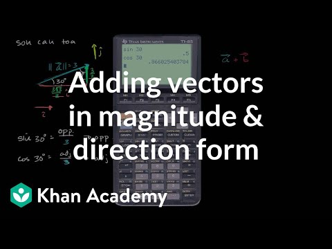 Breaking down vectors into components | Vectors | Precalculus | Khan Academy