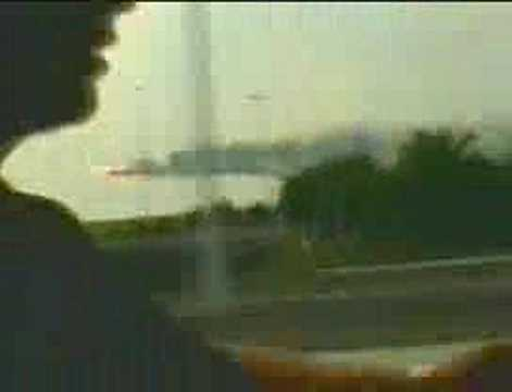 Video Amateur, Concorde Burning in the Air Before Crashing