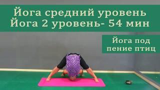 йога средний уровень, йога 2 уровень, йога час, йога средний, йога 1 час
