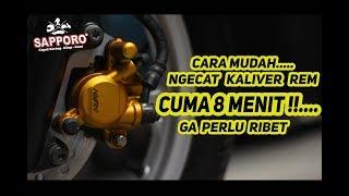 CARA MUDAH NGECAT KALIPER BEAT , CUMA 7 MENIT AJA!!!...   Honda Yellow 702