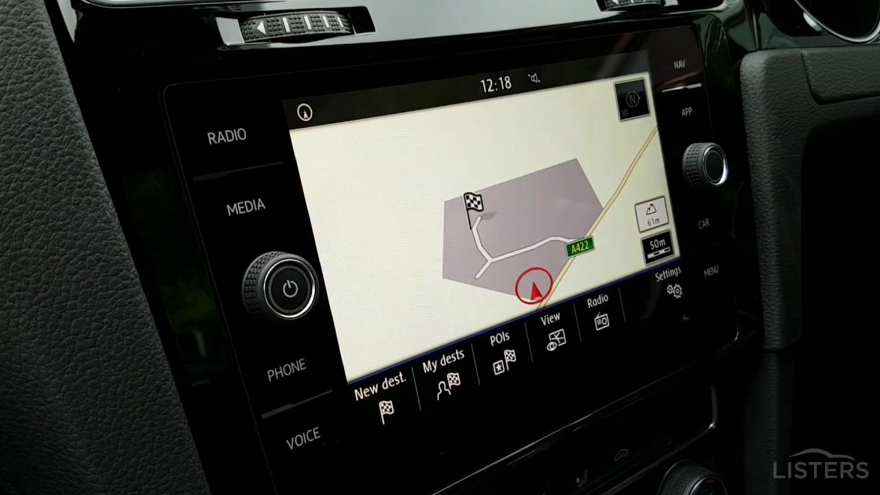 How to enter a postcode in your Volkswagen sat-nav
