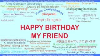 MyFriend   Languages Idiomas - Happy Birthday