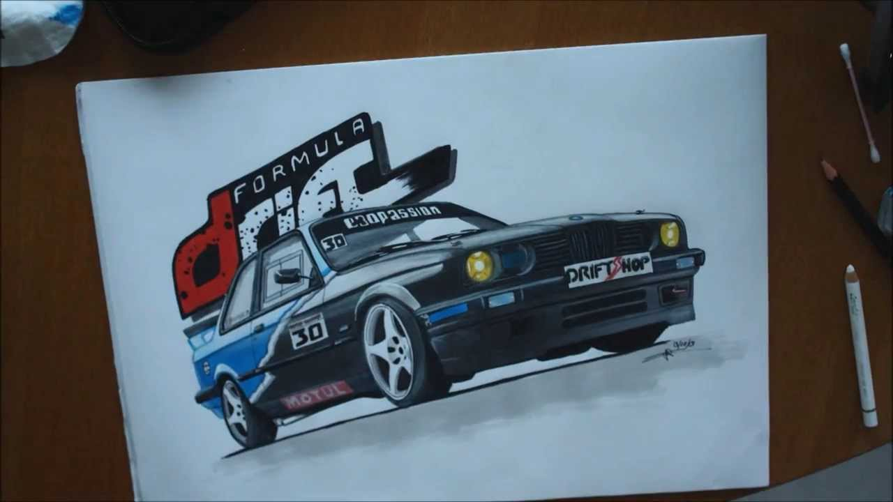 Drawing Bmw Drift Project Youtube