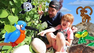 BALLOON ANiMAL ZOO!!  Doctor Adleys Pet Daycare!  Transfer baby balloons to the backyard routine