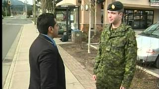 Canadian Army Reserve Slashed in the Neck While Walking Home