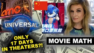 AMC Universal 17 Day Theatrical Window, Sonic China Box Office